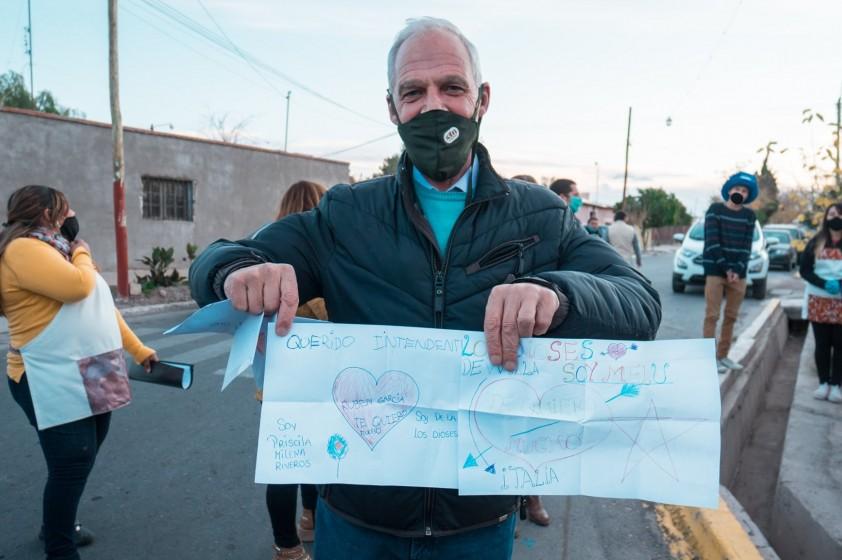 Rubén García visitó Merenderos y Comedores del Departamento