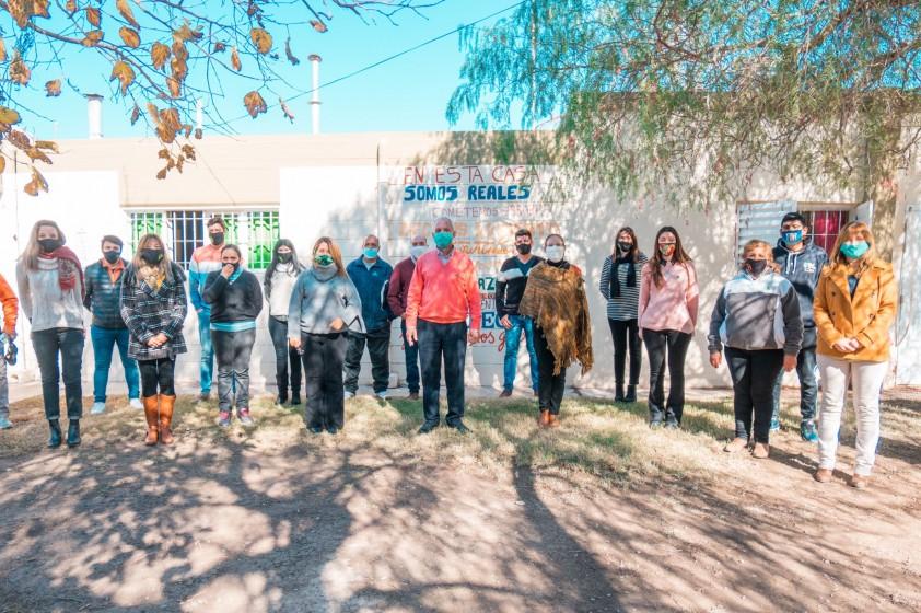 Rubén García visitó el Centro de Día Francisco