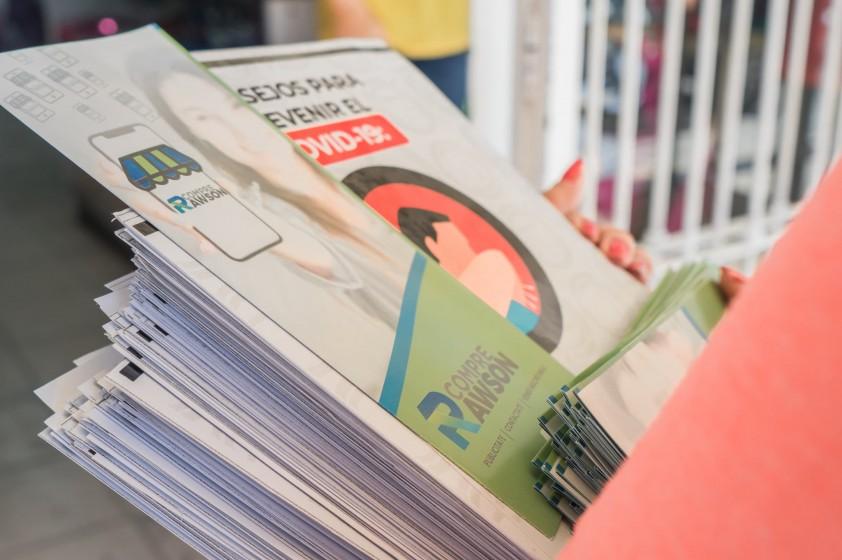 Se distribuyó folletería informativa sobre Covid-19