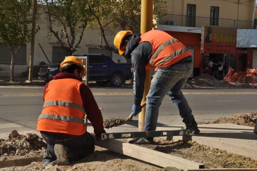 Obras de jerarquización de accesos al departamento