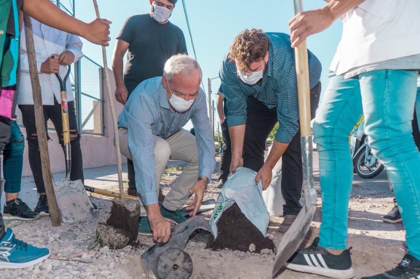 Jóvenes participaron en plantación de árboles  en el marco del Proyecto Transformando Comunidades