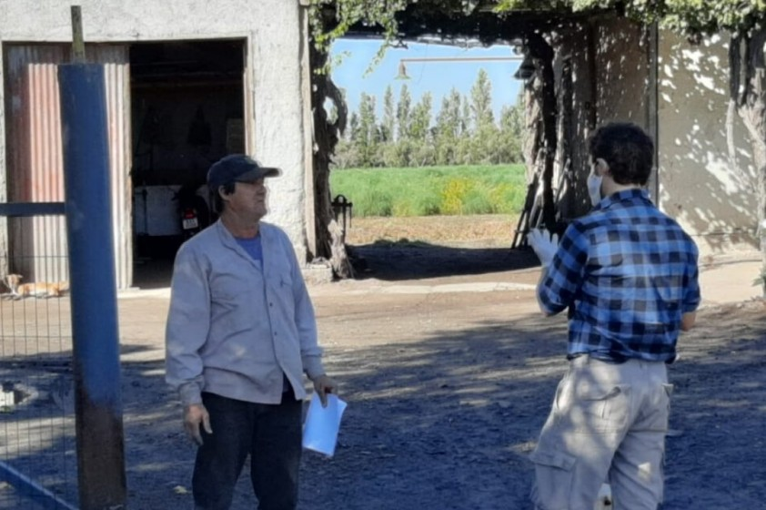Evaluación de estado de cultivos y Asistencia a productores.